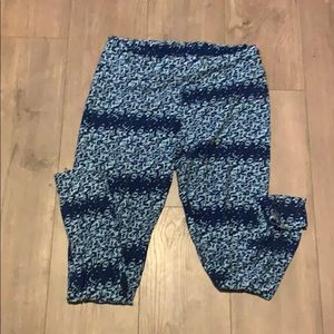 NWT lularoe leggings blue print tc
